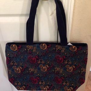 Velour and Satin Mickey Mouse Tote